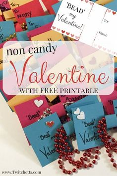 Looking for a non candy Valentine idea this year? These Bead My Valentines are cute and all of the kiddos loved them. There is a Free Printable too!