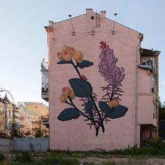 "thcrstlshp: "" New mural by our buddy Pastel in Kiev, Ukraine! """