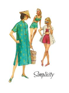 Vintage 1950s Simplicity 1608 Two Piece by PinkPolkaDotButton, $48.00