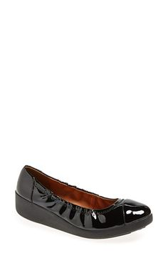 FitFlop  FF2 'F-Pop' Patent Ballerina Flat (Women) available at #Nordstrom