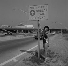 Which way to the heliport? Miss Florida, Suzanne Warner, directs traffic to the heliport Miss Florida, Fair Lady, World's Fair, Beauty Queens, Beautiful Women, New York, Concert, News, Pictures