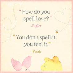 How Do You Spell Love? / Pooh & Piglet
