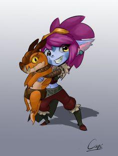 Dragon trainer tristana fanart by Capi974