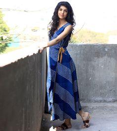 Indigo wrap dress by KharaKapas on Etsy