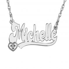 Name Necklace with Diamond - $130.00