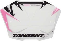 Tangent Products Ventril 7-Inch Number Plate White/Pink - http://www.bicyclestoredirect.com/tangent-products-ventril-7-inch-number-plate-whitepink/