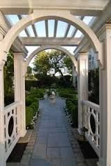 Image result for white wood pergola with arch