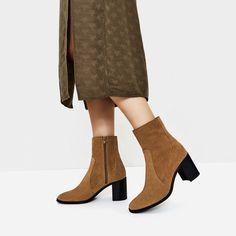 LEATHER HIGH HEEL ANKLE BOOTS  #flatlay #flatlays #flatlayapp www.flat-lay.com