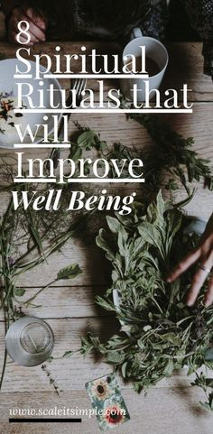 Creating spiritual rituals can help improve your overall well being and wellness. Try some of these simple rituals for yourself. Spiritual Wellness, Spiritual Health, Spiritual Growth, Simple Living Blog, Simple Blog, Holistic Healing, Holistic Wellness, Best Blogs, Self Care Routine