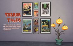 16 spoopy simlish posters/book covers for all your wall-adorning needs I started these a year ago, decided I hated them and locked them away in The Failed Mods Crypt. Sims 4 Couple Poses, Sims 2 Hair, Sims House Design, Sims Building, Sims 4 Cc Skin, Sims 4 Characters, Sims 4 Cc Furniture, Sims 4 Mm, Sims 4 Build