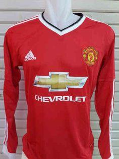 a23cb52d6 Jersey Manchester United Home Lengan Panjang 2015-2016. Roqim Ordym · jersey  bola original