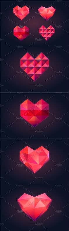 Polygonal Heart Collection #heart