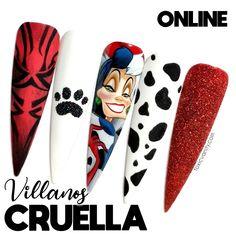 Disney Acrylic Nails, Disney Nails, Dope Nails, Fun Nails, Mani Pedi, Manicure, Long Nail Art, Beauty Art, Stiletto Nails