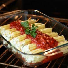 Three Cheese Manicotti: possible Valentine's Day dinner surprise for Josh :)
