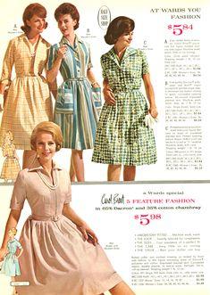 1960s Fashion Women, 1900s Fashion, 60s And 70s Fashion, Retro Fashion, Vintage Fashion, Evolution Of Fashion, Fashion Catalogue, Vintage Couture, Mode Vintage