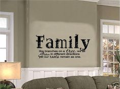 Vinyl Wall Decal Art Saying Decor Quote Family Like Branches on a Tree