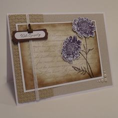 MOJO233: With Sympathy Field Flowers by wiebergs - Cards and Paper Crafts at Splitcoaststampers