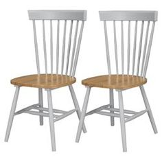 Dorset Pair of Dining Chairs 2 Tone Dining Chairs, Dining Room, Tesco Direct, Sweet Home, Furniture, Home Decor, Range, Flat, Ideas