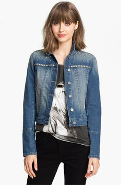 a48d6e9b445 Paige  Colbie  Studded Denim Jacket available at Nordstrom