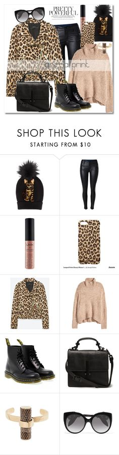 """""""Get the look"""" by vkmd ❤ liked on Polyvore featuring Dolce&Gabbana, NYX, Dr. Martens, Furla, Alexander McQueen and GetTheLook"""