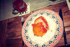 Herbstküche:: G´füllte Paprika Hummus, Plates, Tableware, Ethnic Recipes, Food, Unstuffed Peppers, Autumn, Simple, Food Recipes