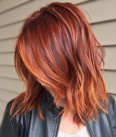 Red Layered Haircut