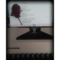 First typewriting  my room my shelter waiting for miracle for inspiration for motivation reverie blows out the candels and wish another year is gone and where are you where last year where next year #poetry #poem #typewriter #flower #rose #inspiration #motivation #fictionworld #oldschool #literature