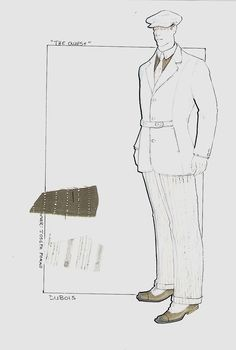 The Quest. Jean Claude Van Damme costume sketch. #josephporrodesigns