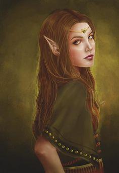 "f Elf portrait Elves Faeries Gnomes: ~ ""Mealla,"" by at deviantART. Elves Fantasy, Fantasy Races, High Fantasy, Fantasy World, Fantasy Art, Fantasy Portraits, Character Portraits, Character Art, Magical Creatures"