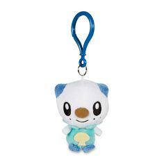 Official Oshawatt Pokémon Petit Plush Keychain. Lightweight and easy to secure to a backpack or key ring. Pokémon Center Original design.