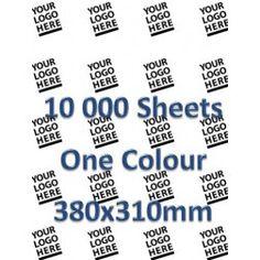 Custom Printed Paper 10 000 Sheets 1 colour 380 x 310 cm - Your design!