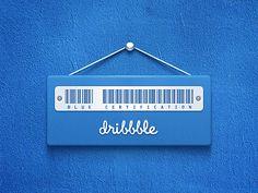 Blue Certification Dribbble