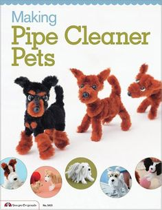 Making Pipe Cleaner Pets - Oh, admit it, you want to make them! Just to see pictures of these adorable pipe cleaner dogs is enough to make you want to whip up a bunch of your own! Why? Why not??? Learn how to twist pipe cleaners into 23 different doggies with this great guide from Japan, the land where cuteness trumps all! Make a toy poodle, an Italian greyhound, a French bulldog, a Jack Russel Terrier, a Welsh corgi,a dalmation, an old English sheepdog and so many more itty-bitty pups with…