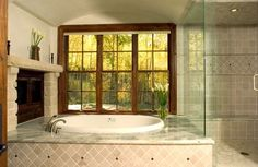 Glass shower door meets tub deck: Drop In Tub Design Ideas, Pictures, Remodel, and Decor - page 21