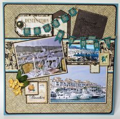 Graphic 45 - A Project by NancyWeth from our Scrapbooking Gallery originally submitted at AM Scrapbook Paper Crafts, Scrapbook Supplies, Scrapbook Cards, Paper Crafting, Travel Journal Scrapbook, Vacation Scrapbook, Scrapbook Sketches, Scrapbook Page Layouts, Scrapbook Templates