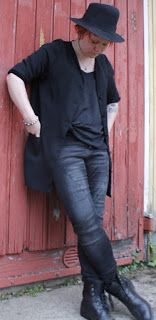 """Martje: """"My mom told me two things about styli. Black in always stylish and laced boots never goes out of fashion"""""""