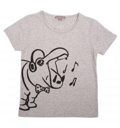 Tshirt hippo gris chiné Emile et Ida