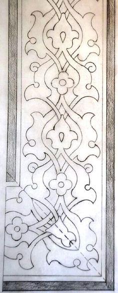Greek – Art and Literature Border Pattern, Border Design, Pattern Art, Pattern Design, Embroidery Patterns, Hand Embroidery, Stencils, Islamic Patterns, Turkish Art