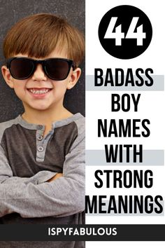 These badass boy names are cool and have strong meanings. Finding your new favorite boy name just got a lot easier! #boynames #babynames Badass Boy Names, Cool Boy Names, Unique Boy Names, Girl Names, Italian Baby Names, Irish Baby Names, Celebrity Baby Names, Celebrity Babies, Modern Baby Names