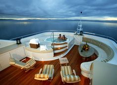 lifestyles of the rich and famous. I'm on a boat. Yacht life.