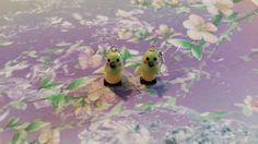 Boucles d'oreilles oiseau/perruche/calopsytes en pâte fimo fait main, création artisnale : Boucles d'oreille par s-et-s-creations