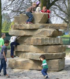 Yorkstone climbing tower and Gravelsafe® at Bush Hill Park' Enfield