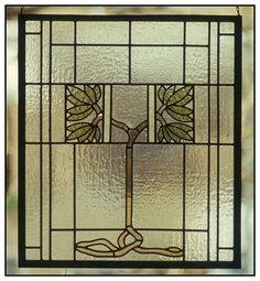 craftsman stained glass windows | Arts and Crafts Library Window circa 1910 - Restoration