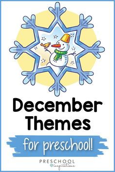Wonderful themes for your preschool this December! Teaching with themes is a perfect way to keep your students engaged and on track during the busy December winter season. These are perfect for homeschool or in the classroom, and there are lots of non-holiday themes included, as well! Preschool Teachers, Preschool Themes, Preschool Lessons, Teaching Kids, Kids Learning, Winter Activities For Kids, Hands On Activities, Learning Activities, Preschool Christmas