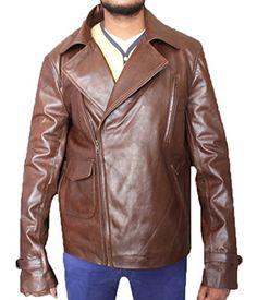 CHRIS EVANS CAPTAIN AMERICA BROWN MOTORCYCLE JACKET (XL)