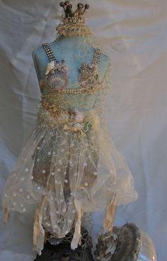 Dress Form with Seashells and Rhinestones