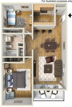 House Plans Layout Interiors Ideas For 2019 Sims House Plans, House Layout Plans, Floor Plan Layout, House Layouts, Small House Plans, House Floor Plans, Apartment Layout, Apartment Design, Apartment Living