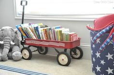 Old wagon as book storage