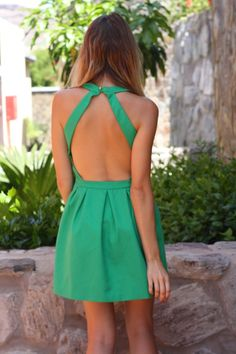 honeydressing by Mirian Pérez Green Dress, Fashion Inspiration, Backless, Medium, Wedding, Outfits, Image, Ideas, Dresses