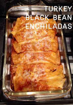 Turkey Black Bean Enchiladas